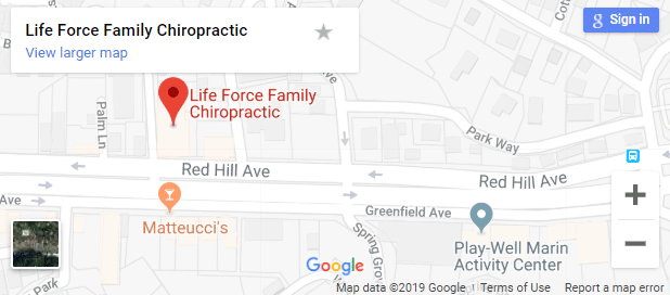 Map of San Anselmo Chiropractors
